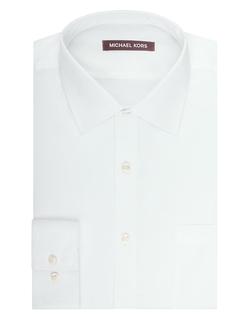 Regular Fit Dress Shirt by Michael Kors in Black Mass