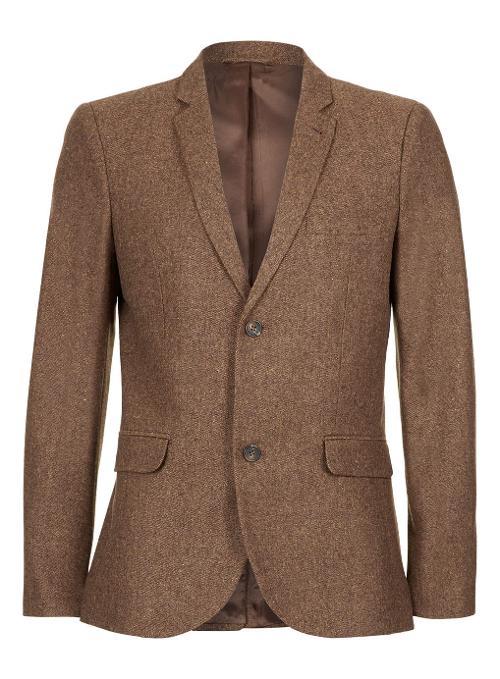Brown Twist Donegal Blazer by Topman in Get On Up