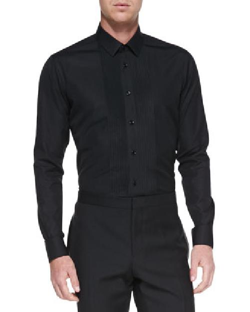 Pleated-Front Tuxedo Shirt by Saint Laurent in The Wolf of Wall Street