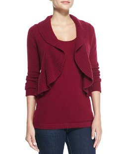 Cashmere Ruffled Bolero Cardigan by Neiman Marcus in That Awkward Moment