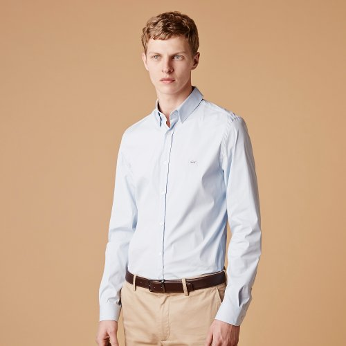Slim Fit Poplin Stretch Woven Shirt by Lacoste in While We're Young