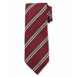 Framed Stripe Silk Tie by Kiton in House of Cards