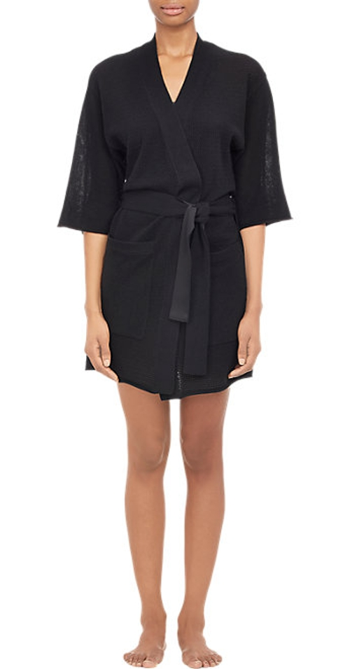 Mixed-Stitch Short-Sleeve Robe by Atm Anthony Thomas Melillo in The Gift