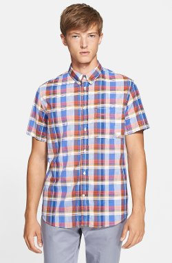 Classic Fit Plaid Woven Shirt by Paul Smith Jeans in Begin Again