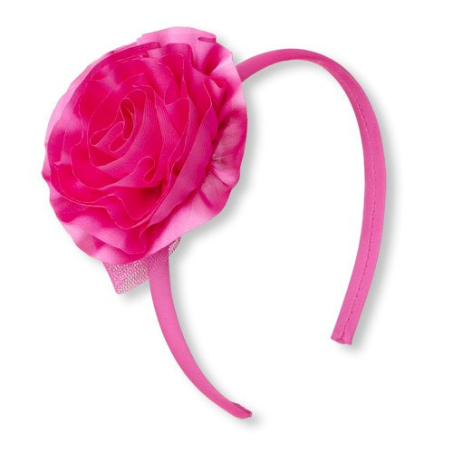 Silk Rosette Headband by The Children's Place in Black or White