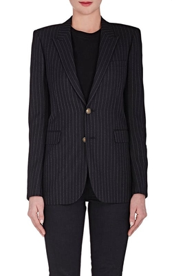 Pinstriped Wool Two-Button Blazer by Saint Laurent in How To Get Away With Murder