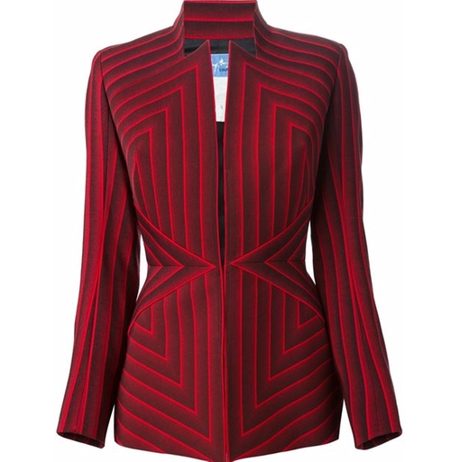 Striped Jacket by Thierry Mugler Vintage in The Good Wife - Season 7 Episode 18