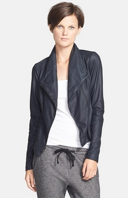 """Coastal"" Paper Leather Scuba Jacket by Vince in Love the Coopers"