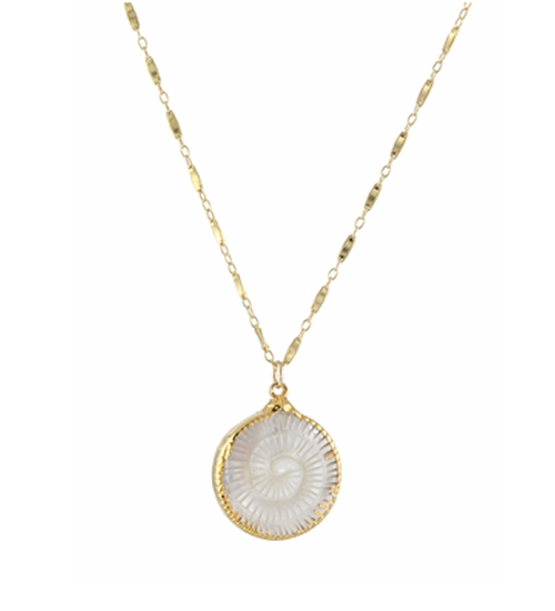 Mother of Pearl Fern Necklace by Peggy Li in How To Get Away With Murder - Season 3 Episode 1