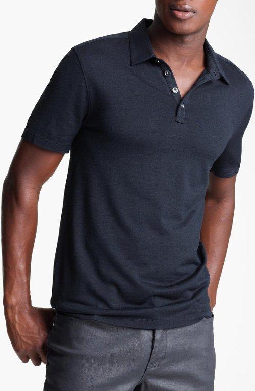 Hampton Silk & Cotton Polo Shirt by John Varvatos Collection in Furious 7