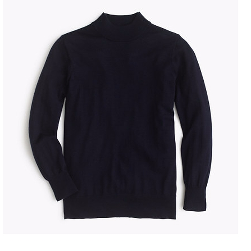 Tippi Mockneck Sweater by J.Crew in The Boss