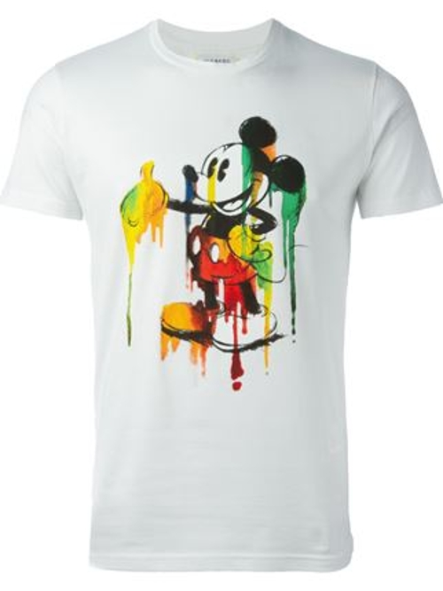 Mickey Mouse Print T-Shirt by Iceberg in Entourage