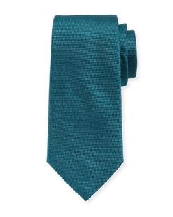 Textured Solid Tie by Armani Collezioni in Legend