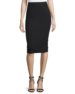 Calf-Length Pencil Skirt by Eileen Fisher  in Suits