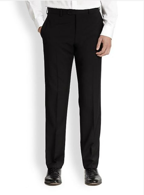 Basic Virgin Wool Trousers by Armani Collezioni in Hitman: Agent 47