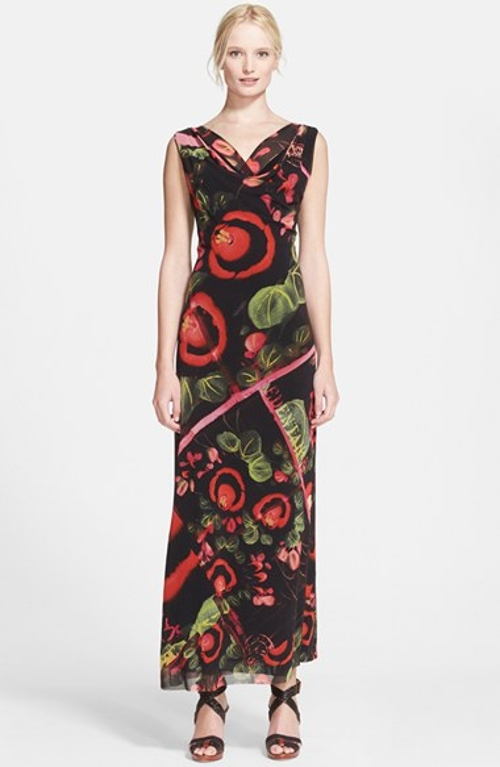 Garden Print Tulle Maxi Dress by ZZDNU Jean Paul Gaultier in The Second Best Exotic Marigold Hotel