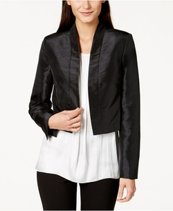 Satin Open-Front Cropped Jacket by Calvin Klein in Pretty Little Liars