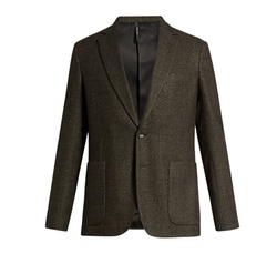 Single-Breasted Tweed Blazer by Helbers in Quantico