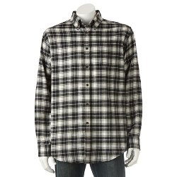 Plaid Flannel Button-Down Shirt by Croft & Barrow in If I Stay