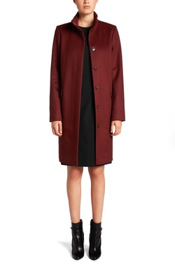 Carila Cashmere Virgin Wool Car Coat by Boss Hugo Boss in The Good Wife