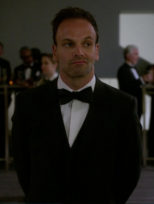 Custom Made Hidden Button Tuxedo Shirt by Cego in Elementary - Season 4 Episode 3