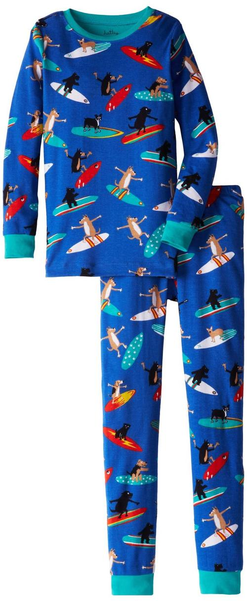 Big Boys' Pajama Set - Surfing Dogs by Hatley in Ted