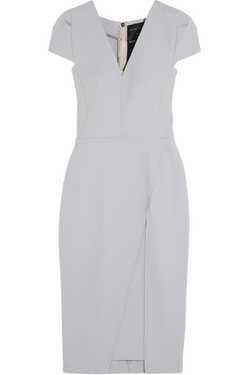 Adalia Wool-Crepe Dress by Roland Mouret in Arrow