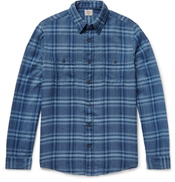 Belmar Plaid Cotton-Flannel Shirt by Faherty in Nashville