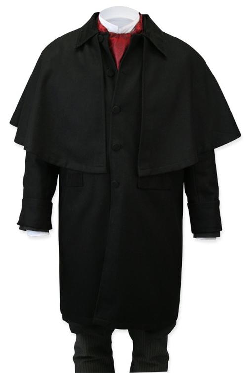 Coburn Great Coat - Black Wool by Gentleman's Emporium in The Revenant