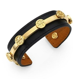 Leather Logo Cuff Bracelet by Tory Burch in The Last Witch Hunter
