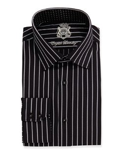 Striped Long-Sleeve Dress Shirt by English Laundry in The Devil Wears Prada