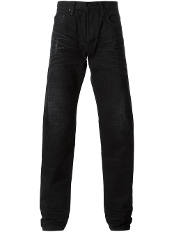Stone Wash Straight Leg Jeans by Master Craft Union in Man of Tai Chi