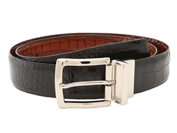 Italian Embossed Calf/Trim Belt by Torino Leather Co. in Ballers