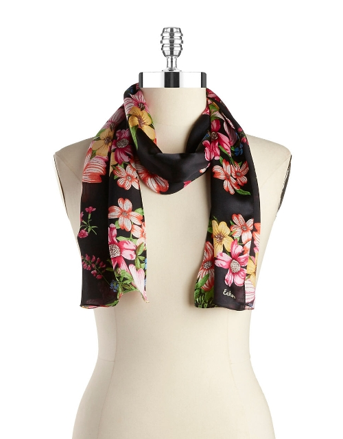 Floral Silk Scarf by Echo in The Visit