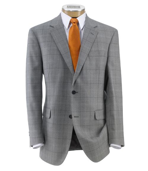 Executive 2-Button Wool Patterned Sportcoat by Jos. A. Bank in Hall Pass