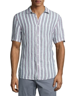 Slim-Striped Short-Sleeve Sport Shirt by Michael Kors in Hands of Stone