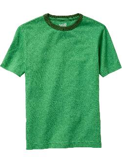 Boys Jersey Ringer Tees by Old Navy in Blended