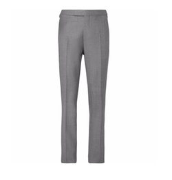 Harry's Light-Grey Wool Suit Trousers by Kingsman in Kingsman: The Golden Circle