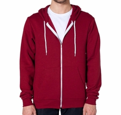 Flex Fleece Zip Hoodie Jacket by American Apparel in Teen Wolf