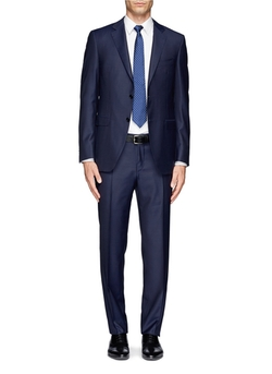 Two-Button Wool Suit by Canali in Suits