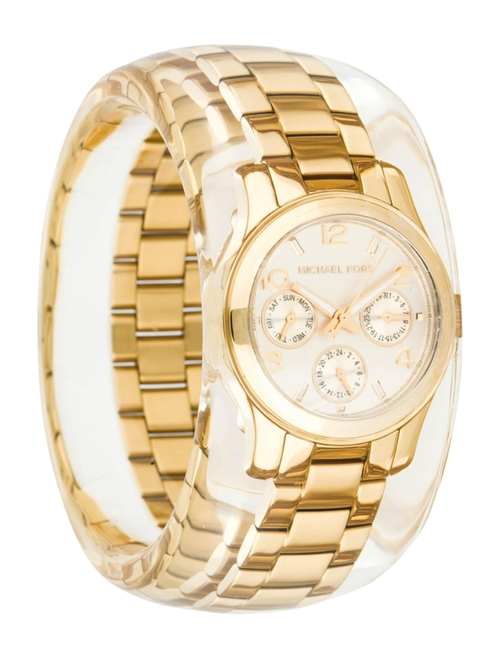 Chronograph Watch Bangle by Michael Kors in Empire