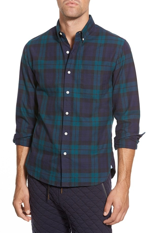 Black Watch Slim Fit Plaid Sport Shirt by Bonobos in Nashville