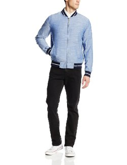 Chambray Varsity Jacket by Gant Rugger in Entourage