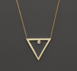 Diamond Open Triangle Necklace by Zoë Chicco in Rosewood