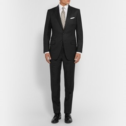 Slim Fit Peak Lapel Wool Suit by Tom Ford in Suits