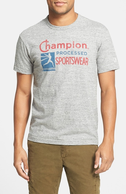 'Processed Sportswear Logo' Graphic T-Shirt by Todd Snyder + Champion in The Intern
