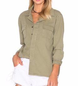Desert Ranch Button Up Shirt by One Teaspoon in Allied