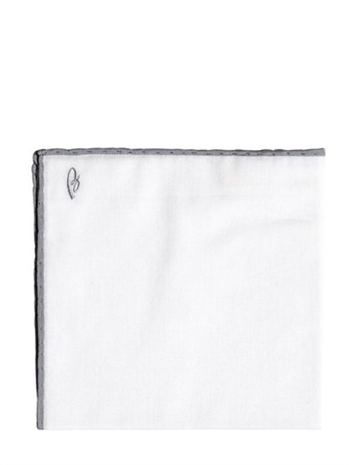 Cotton Muslin Pocket Square by Brioni in Entourage