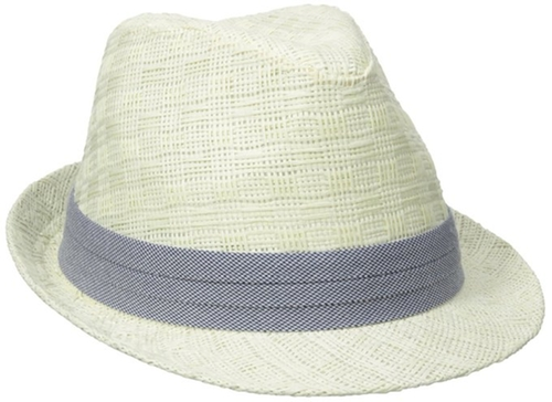 Pattern Straw Fedora Hat by Haggar in By the Sea