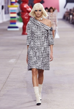 Spring 2014 RTW Jacquard Textured Dress by Chanel  in Suits